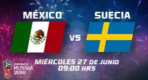 WC2018 México vs Suecia