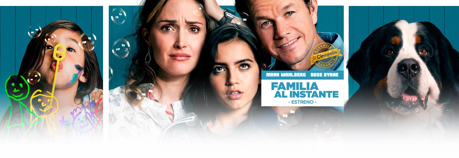 Banner Familia al Instante | Garantía Cinépolis