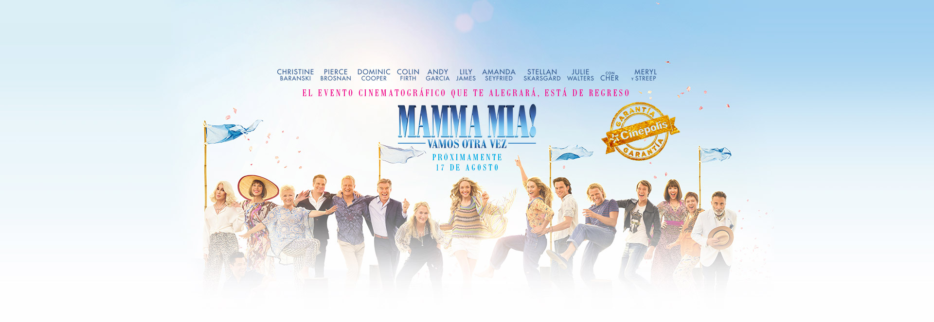 Banner Mamma Mia! Vamos Otra Vez | Garantía Cinépolis