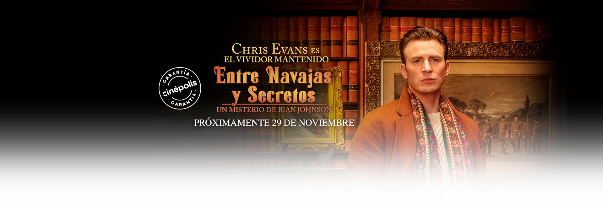 Banner Entre Navajas y Secretos | Garantía Cinépolis