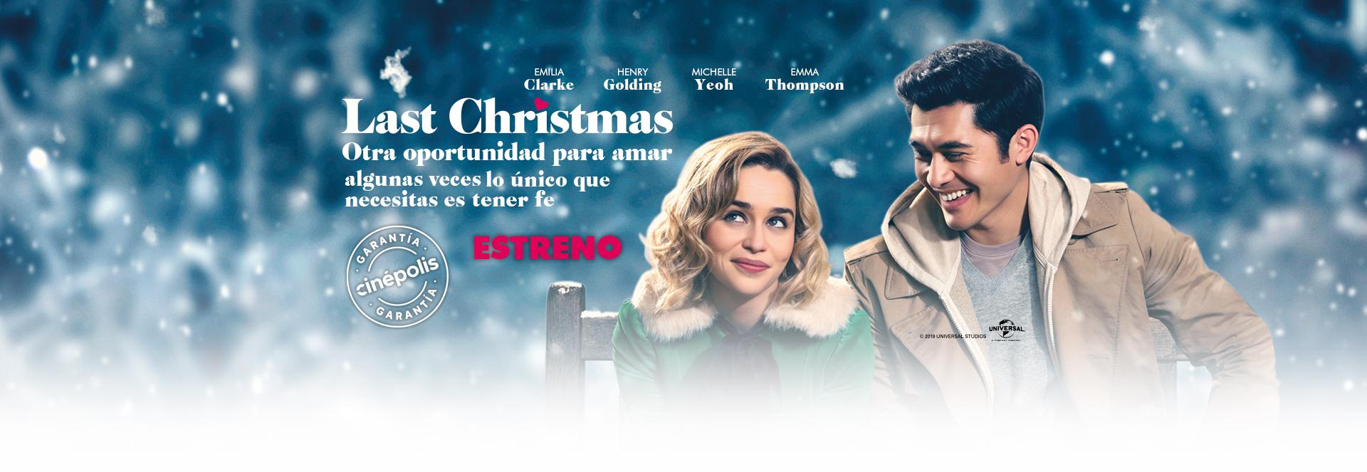 Banner Last Christmas: Otra oportunidad para amar | Garantía Cinépolis