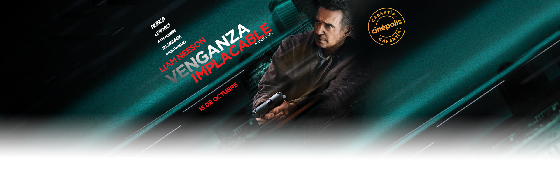 Banner Venganza Implacable | Garantía Cinépolis