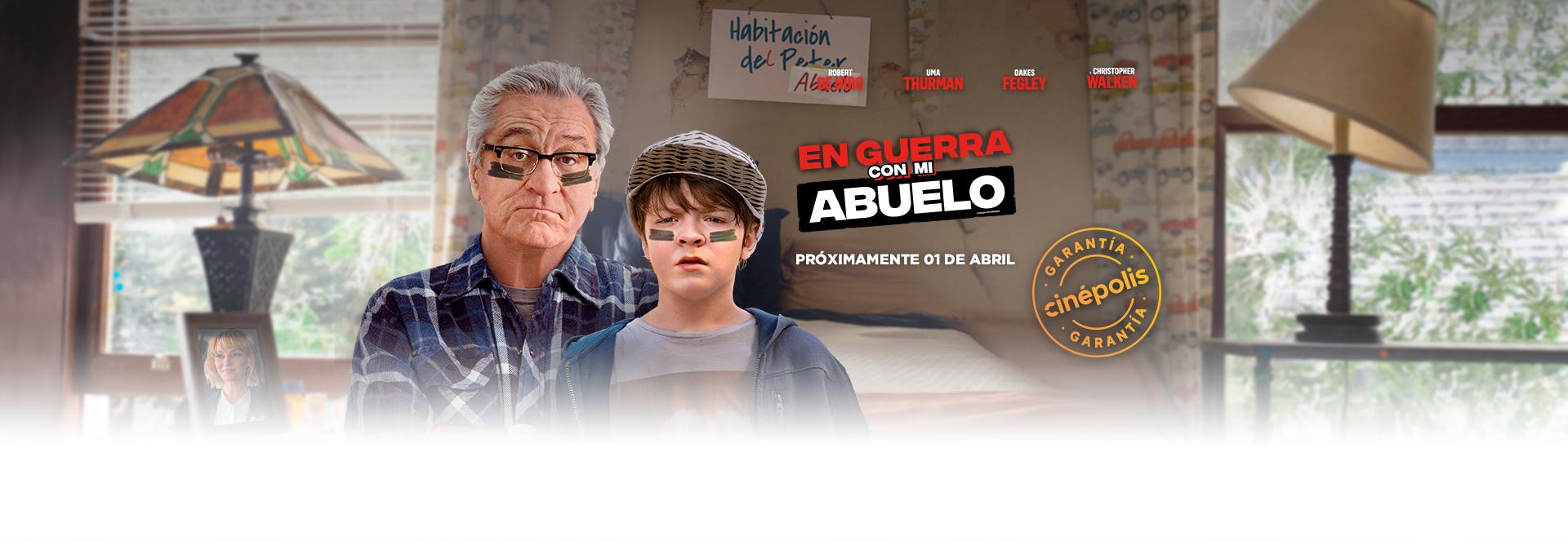 Banner En Guerra Con Mi Abuelo | Garantía Cinépolis