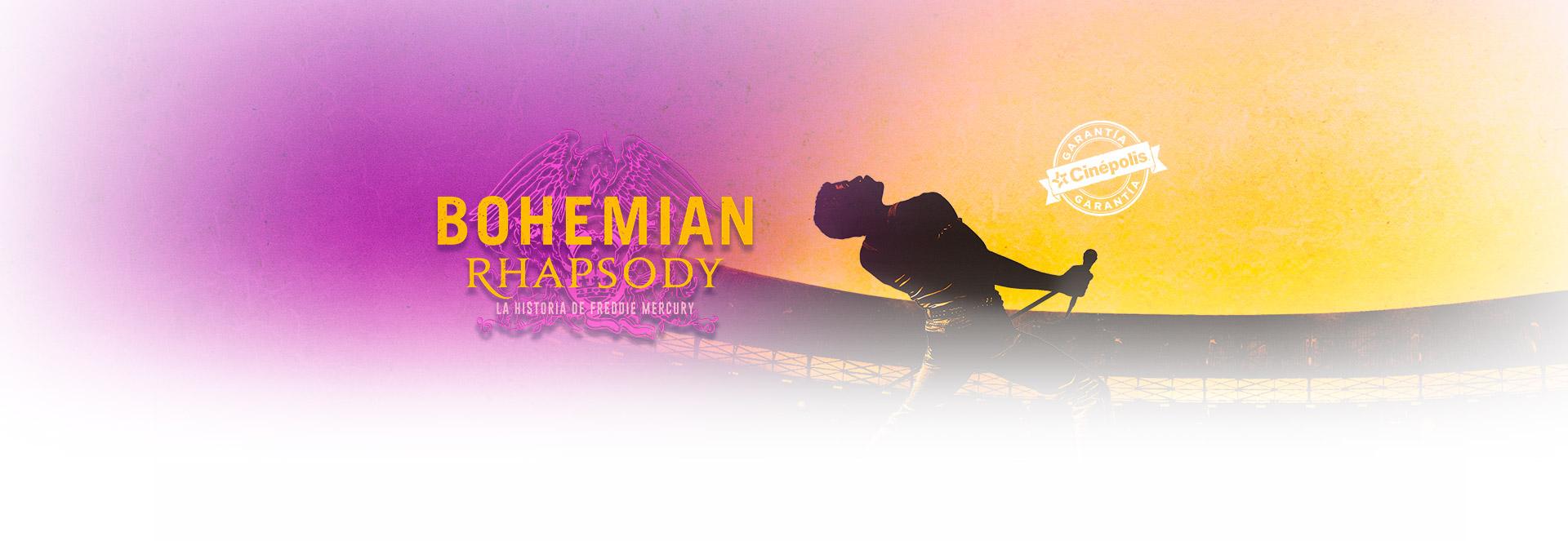 Banner Bohemian Rhapsody | Garantía Cinépolis