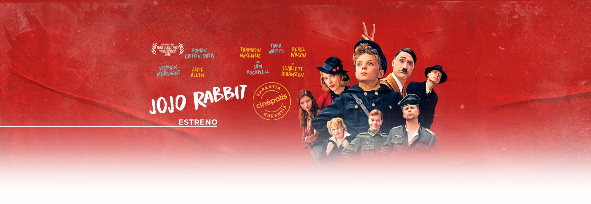 Banner Jojo Rabbit | Garantía Cinépolis